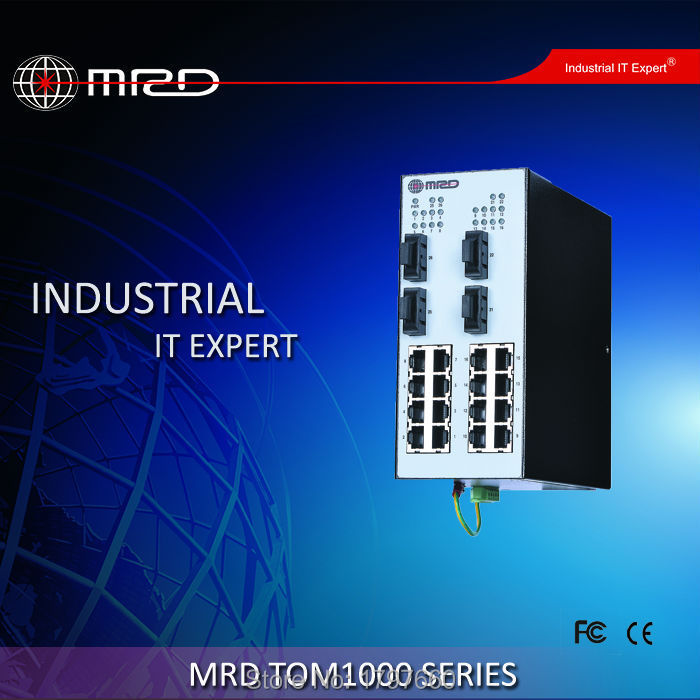 MRD Industrial Ethernet Switch TOM1000 Series 16 TX ports + 4 optical ports TOM1000-ALD040GS4(China (Mainland))