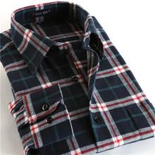 New Fashion 2016 men shirts plaid causal shirt long sleeve flannel high quality mens clothes(China (Mainland))
