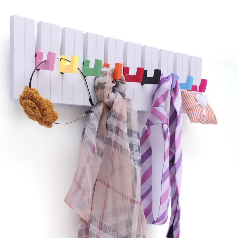 Fashion Creative Family Decorative Wall Hooks Hats Bag Piano Shape Bedroom Wall Hanger Bathroom Kitchen Accessories(China (Mainland))