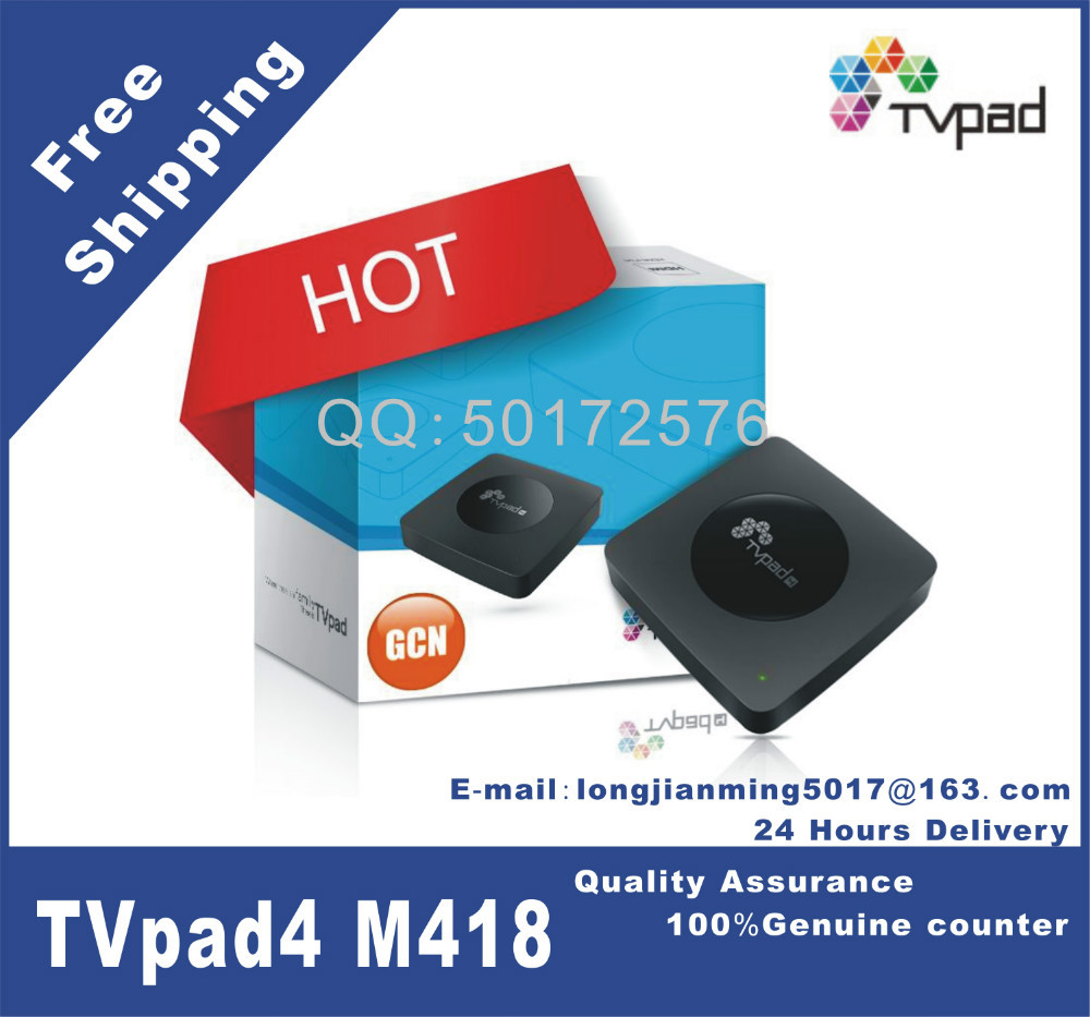 TVpad4(GCN Edition) M418 Streaming Media Player Android Quad-core Chinese HongKong Set Top Box HDMI built-in WiFi, free shipping(China (Mainland))