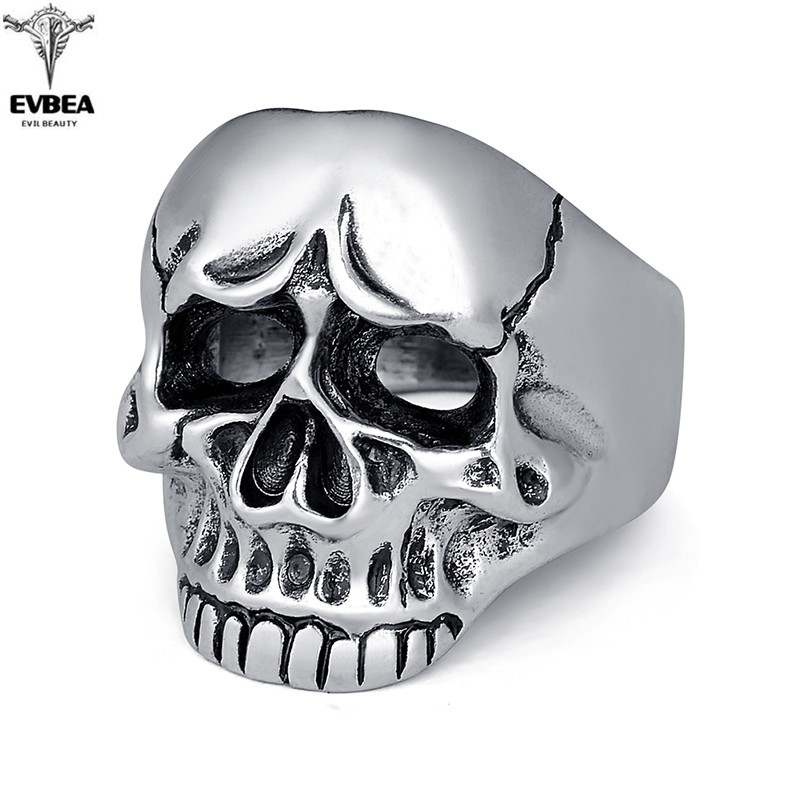 Men Skull Jewelry Rings For Men Allergy Free Punk Rock Jewelry Non-Mainstream Cool Mens Rings Party Accessory Friendship(China (Mainland))