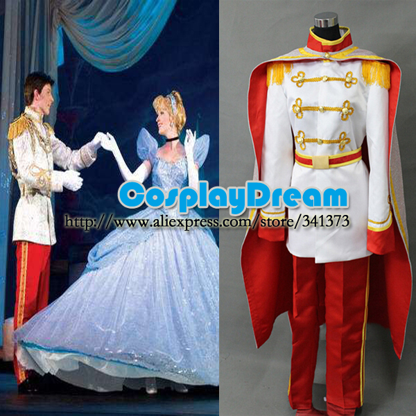 Custom made Charming Prince Cosplay Costume Cinderella Fairy Tale fancy dress cosplay costume - CosplayDream Store store
