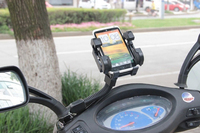 Universal 360 Degree Rotating GPS/Mobile Holder For Motorcycle Good quality motorcycle phone holder
