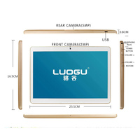 DHL free shipping LUOGU 10 inch Tablet PC Octa Core 2GB RAM 32GB ROM Dual SIM Cards Android 5.1 GPS Tablet phone 10 10.1