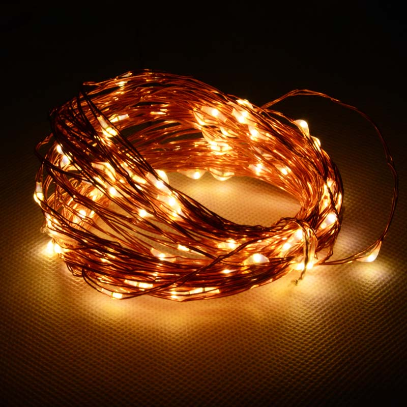 Copper String Lights Down To The Woods : 12-V-Waterproof-Copper-string-light-10M-100-LED-Outdoor-Christmas-fairy-lights-White-Blue-Warm.jpg