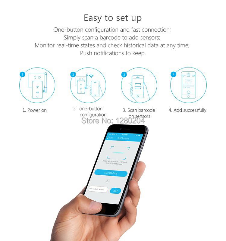 image for Broadlink S1C Smart Home Automation,S1 SmartOne,PIR/Motor Door Sensor
