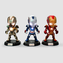 Buy Avengers Super Hero Iron Man Figure 3 MK 6/3 MK 42 10 cm PVC Action Figures Collection Model Toys LED Flash Light Dolls for $12.99 in AliExpress store