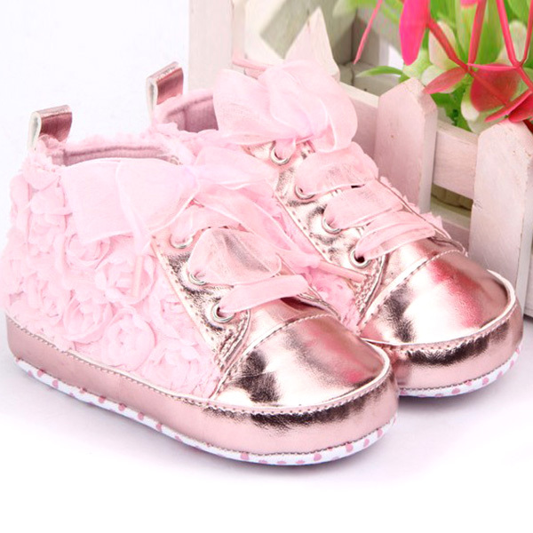 Bebe first walkers Baby kids Toddler Shoes sapatos baby sapato infantil kids Rose flower soft sole girl shoes Free shipping