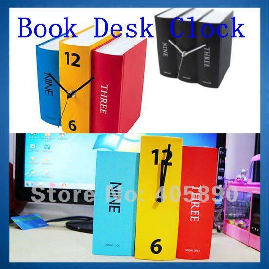 Book Desk Clock Creative Design Retro American Style Clock Gift(China (Mainland))