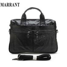 100% Genuine Leather men bag 2015 men's travel bag tote Vintage men Messenger Bag men's briefcase Laptop business Briefcase(China (Mainland))