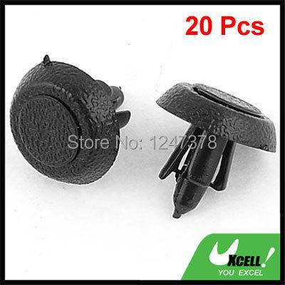 20 Pcs/lot 5mm Hole Black Plastic Rivet Retainer Door Trim Clips Fastener(China (Mainland))