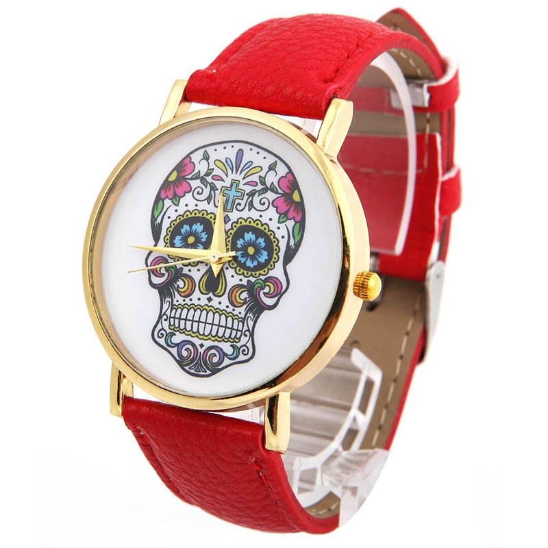 Fashion Wholsale Design Women Dress watches Quartz Watch fashion SKULL Watch Ladies Men Sport Watch L05619
