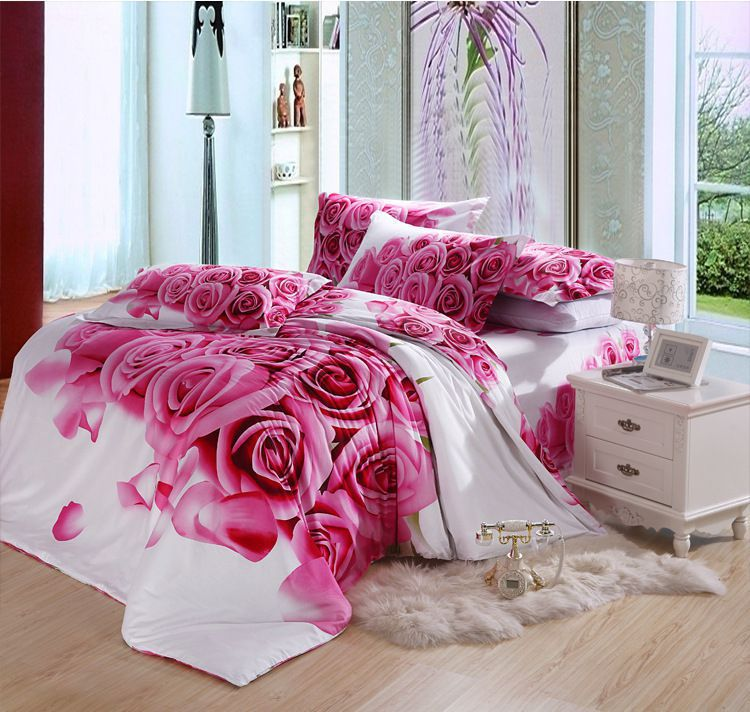 buy fashionable 3d activity lily pattern duvet cover full si