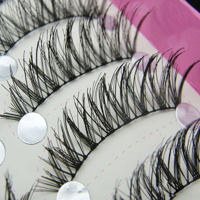 10Pair Long Natural Cross False Eye Lashes Eyelashes Extension Voluminous Makeup Beauty Cosmetics Thick Black Fake Eyelashes Set(China (Mainland))