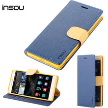 Huawei P8 Lite Case ,Luxury Wallet Stand Flip Leather Back Cover For Huawei Ascend P8 Lite Phone Bags & Cases