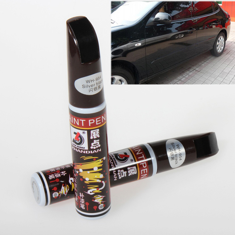 New Hot Sale 12ml Sliver Black Professional Car Paint care Repair Pens Waterproof Clear Car Scratch Remover Painting Remover Pen(China (Mainland))