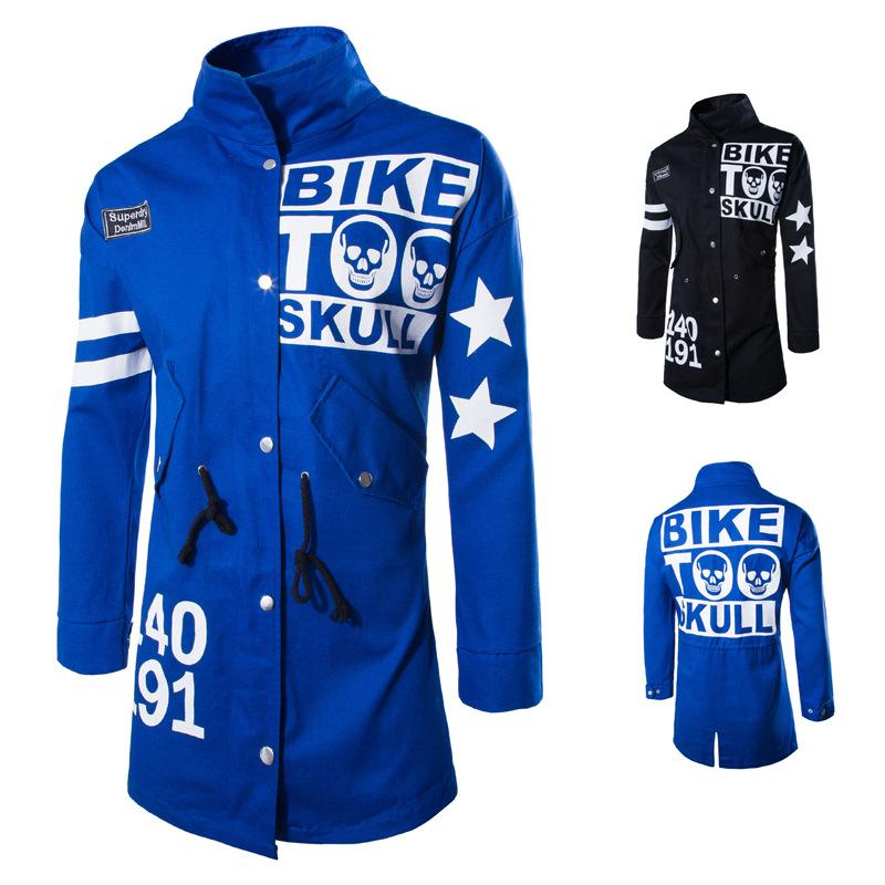 Mens Bike Jacket Skull Jacket motorcycle jacket Men Autumn Spring Tracksuits Fleece Sport Jaclet Men Classic Coats Jackets Одежда и ак�е��уары<br><br><br>Aliexpress