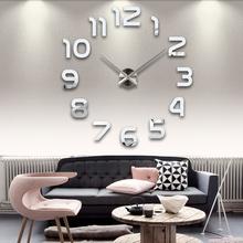 Modern Arabic big size DIY wall clock,large size decorative wall stickers clock,brief,simple,elegant beautiful home decoration
