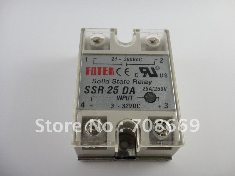 25A SSR,input 3-32V DC output 24-380V AC single phase ssr solid state relay<br><br>Aliexpress