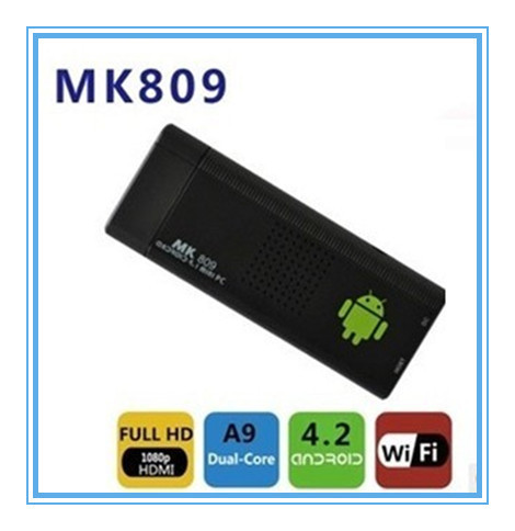 MK809 Android 4.1Google TV Dongle Dual Core Cortex A9 WiFi 1080P 3D RK3066 Mini PC