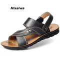 Hot Sale 2017 Summer Genuine Leather Sandals Brand Quality Cheap Beach Men Sandals Slippers Men Casual