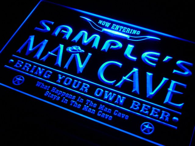 Personalized Man Cave Signs Free Shipping : Pb tm name personalized custom man cave beer bar neon