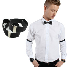 New 2015 fashion man Shirt Sleeve Holder adjustable Armband Elasticated arm band wedding bridegroom  accessories arm warmer(China (Mainland))