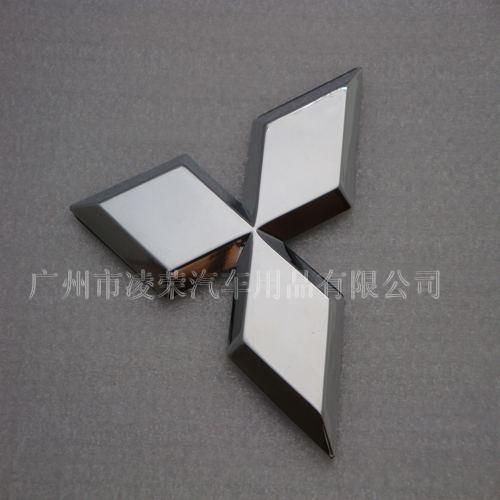 Mitsubishi car plating standard, Mitsubishi logo,Mitsubishi car silver stickers,Mitsubishi flag (8 * 7cm) emblem(China (Mainland))