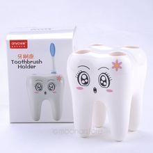 NEW 2016 Cartoon 4 Hole Toothbrush Holder Stand Brush Rack Tooth Brush Shelf Holder(China (Mainland))