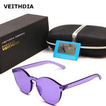 VEITHDIA sunglasses for women transparent candy sun glasses fashion eyewear coating reflective driving sports Anti-UV unisex men()