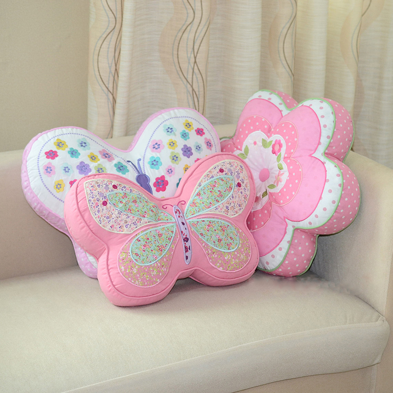 Online Buy Wholesale flower shaped pillow from China  : Korean embroidery butterfly quilted sunflower font b shape b font throw font b pillow b font from www.aliexpress.com size 800 x 800 jpeg 431kB