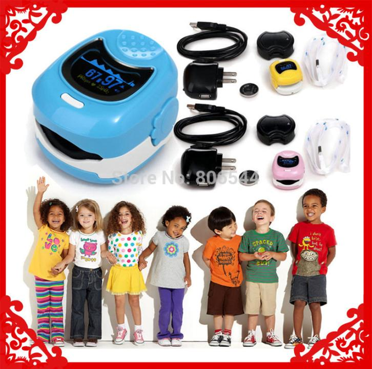 *Color OLED Fingertip Pulse Oximeter for Children for Child - Spo2 Monitor Kids test 3 colors AAA+++(China (Mainland))