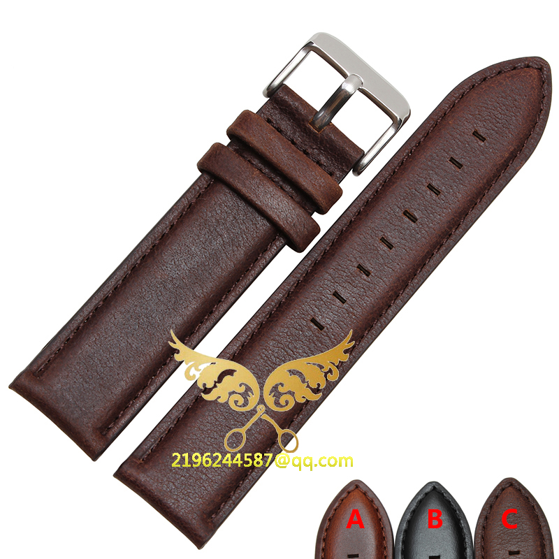 2015 New Durable Genuine Leather Watch Strap For men &amp;women Genuine Leather Watch Band 17mm 18mm 20mm for Daniel Wellington<br><br>Aliexpress