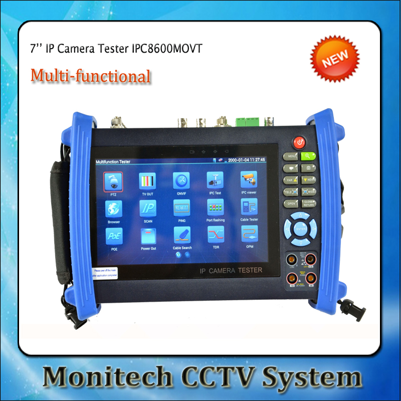 IPC-8600MOVT 7 inch Touch Screen IP Camera CCTV Security Tester IPC Tester with TDR /OPM/ MULTI/ VFL test Support ONVIF/WIFI,etc(China (Mainland))