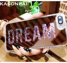 Buy KASONPAI Letter Dearm Mirror Bling Dynamic Liquid Glitter Quicksand Hard Back Soft Edge Case Cover iPhone 6 6S 7 Plus Case for $3.19 in AliExpress store