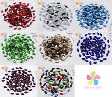 3*7mm 288pcs/lot Flat Back Crystal Rhinestone hot fix rhinestone Glass Beads motif designs Elements 063005042(China (Mainland))