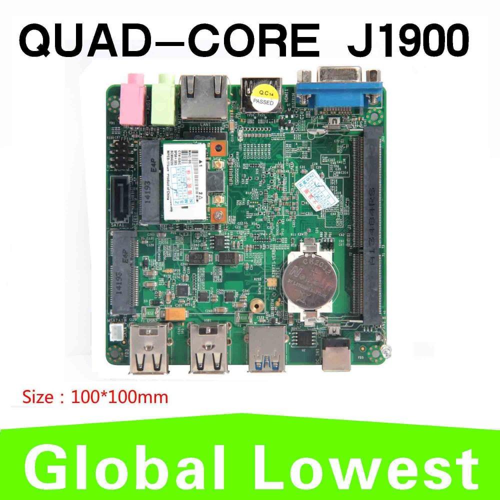 Quad-core CPU Intel Celeron J1900 slim mini itx motherboard 10*10cm motherboard thin client motherboard(China (Mainland))