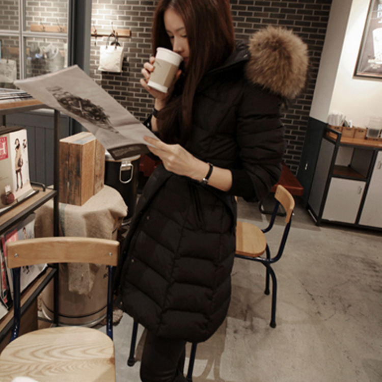 Europe 2014 winter new women's jacket long sections Slim female models large size woman coat
