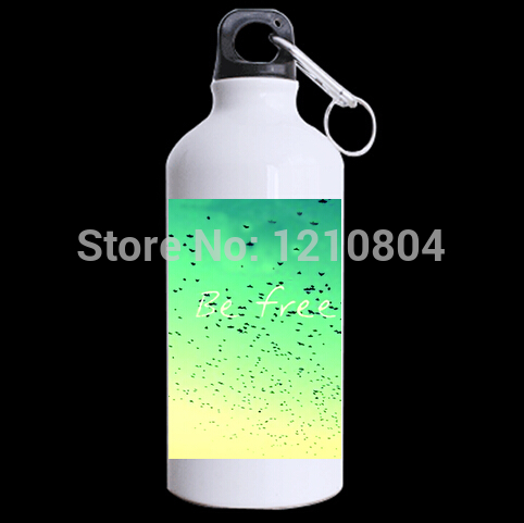 2014 new green yellow fflying bird aluminum sports bottles travel mug best equipment to outdoor activity climbing(China (Mainland))