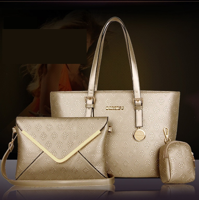 2015 womens girls 3 sets brand new high quality synthetic PU leather handbags casual messenger shoulder crossbody bags W285<br><br>Aliexpress