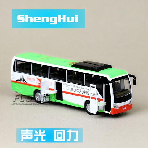 Metal alloy car model In the bag tourist bus acoustooptical WARRIOR alloy car models gift for children  christmas