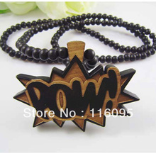 POW Letter  Good Wood  Hip Hop Jewelry  Fashion Necklace  Wholesale(China (Mainland))