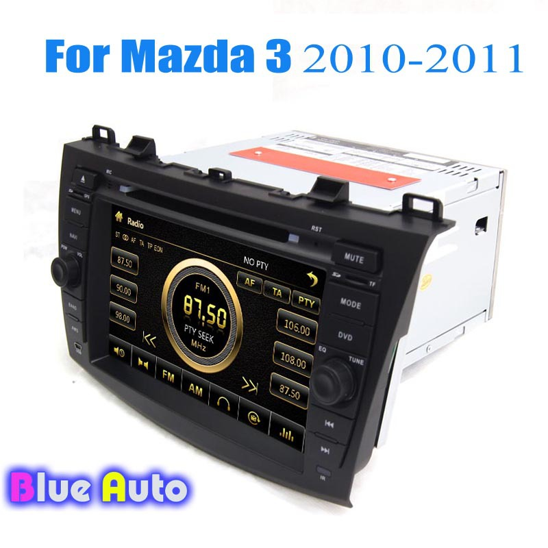 Wince Two Din In Dash Car Central Multimedia Support 3G iPod GPS DVD Radio RDS BT SWC Car PC for Mazda 3(China (Mainland))