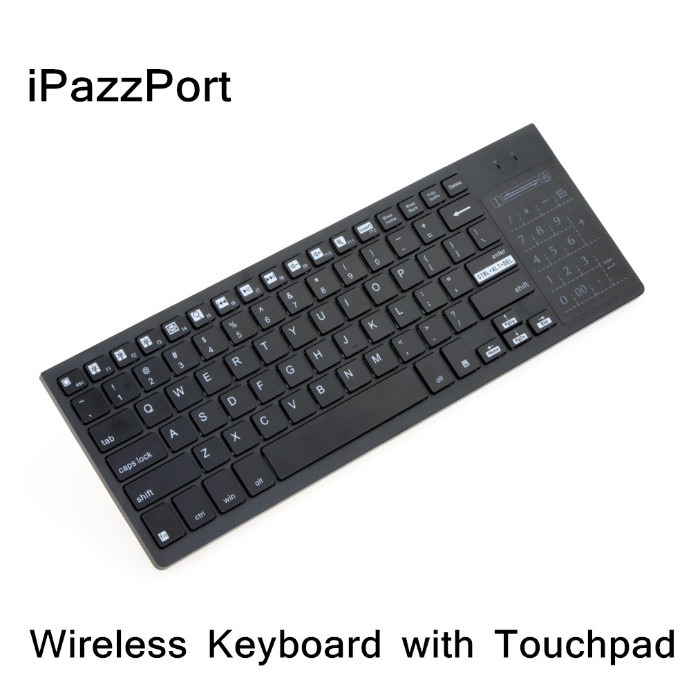iPazzPort 2.4G Wireless Keyboard with Touchpad Ultra-Slim Keyboard for Mac Windows Laptop Computer Android TV Box Multi Media(China (Mainland))