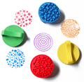 18cm DIY Finger Painting Drawing Toy Colored Craft Ink Pad Inkpad 6 Colors Stamps Toy Graffiti paint toys Non-toxic