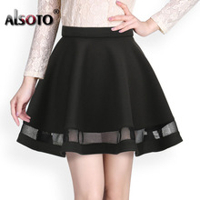 Buy Fashion Grid Design women skirt elastic faldas ladies midi skirt Sexy Girls mini Pleated skirts saias Korea clothes for $7.98 in AliExpress store