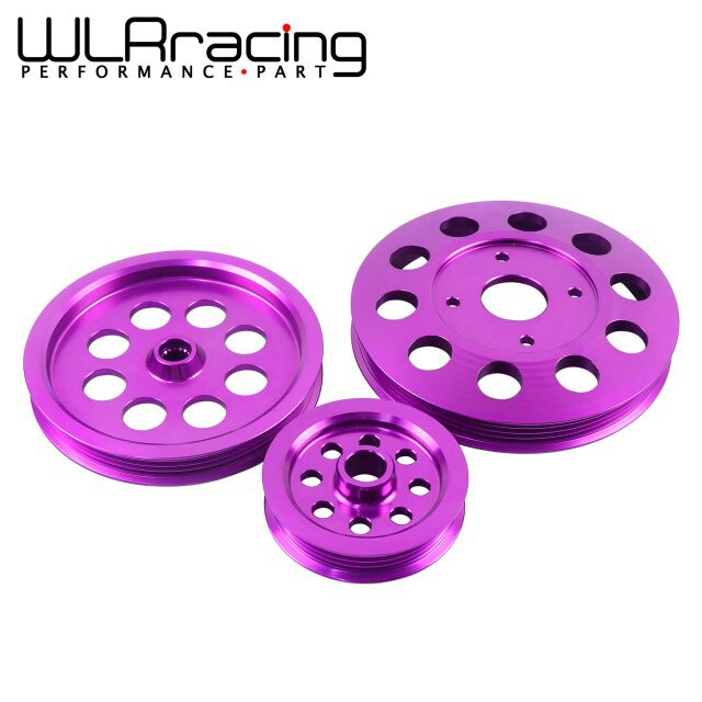 WLR STORE Light weight crank pulley New FOR Nissan GTR BNR32 RB26DETT RB20 RB25 Underdrive Light