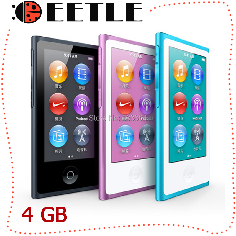 touch screen mp4 player 7th 4gb music fm radio gen led earphone - factory electronic store