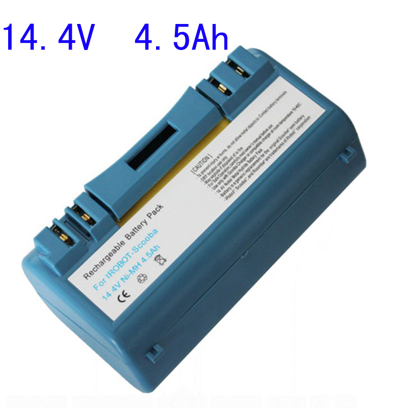 Free Shipping Replacement 14.4V 4.5Ah Battery for iRobot Scooba 330 590 5900 6000 34001 New Vacuum Cleaner Accessories Part(China (Mainland))
