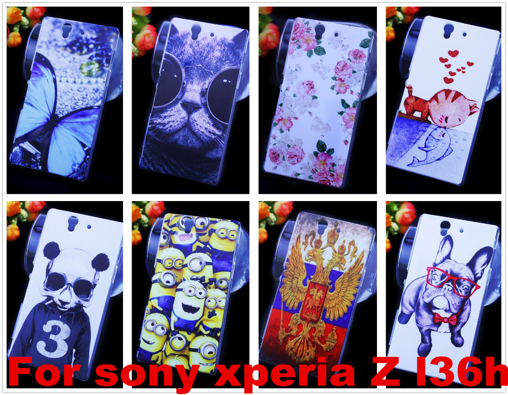 Free shipping Cell Phones Hard Case Skin Cover For sony xperia Z l36h C6602 C6603 Wholesales +capinhas(China (Mainland))